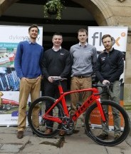 Race organisers Chris Pook (left) and Ewan Caird (right), with Matt Childerhouse - Flex IT (centre left) and Adrian Key - Dyke Yaxley (centre right)
